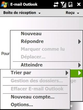 Paramétrage pour récupérer directement ses courriers Hotmail Screen14