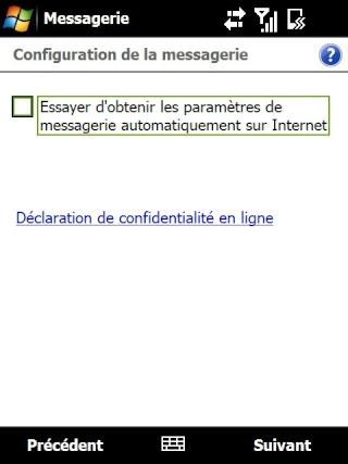 Paramétrage pour récupérer directement ses courriers Hotmail Screen17