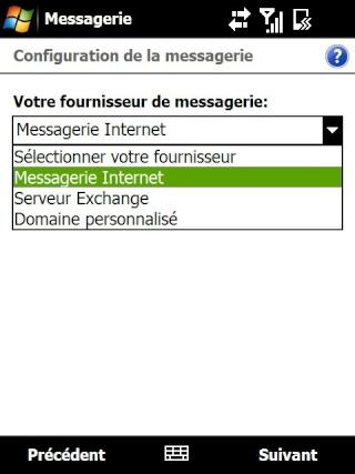 Paramétrage pour récupérer directement ses courriers Hotmail Screen19
