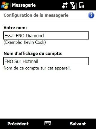 Paramétrage pour récupérer directement ses courriers Hotmail Screen20