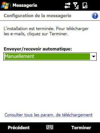 Paramétrage pour récupérer directement ses courriers Hotmail Screen24