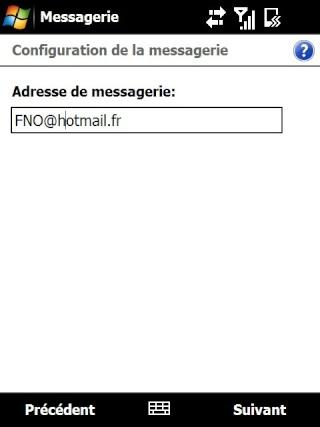 Paramétrage pour récupérer directement ses courriers Hotmail Screen31