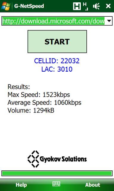 [VM] G-NetSpeed : tester votre connexion GSM Sshot010