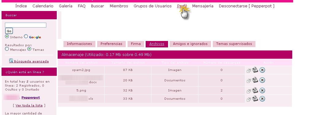ARCHIVOS : INTERCAMBIAR FICHEROS Pj10310