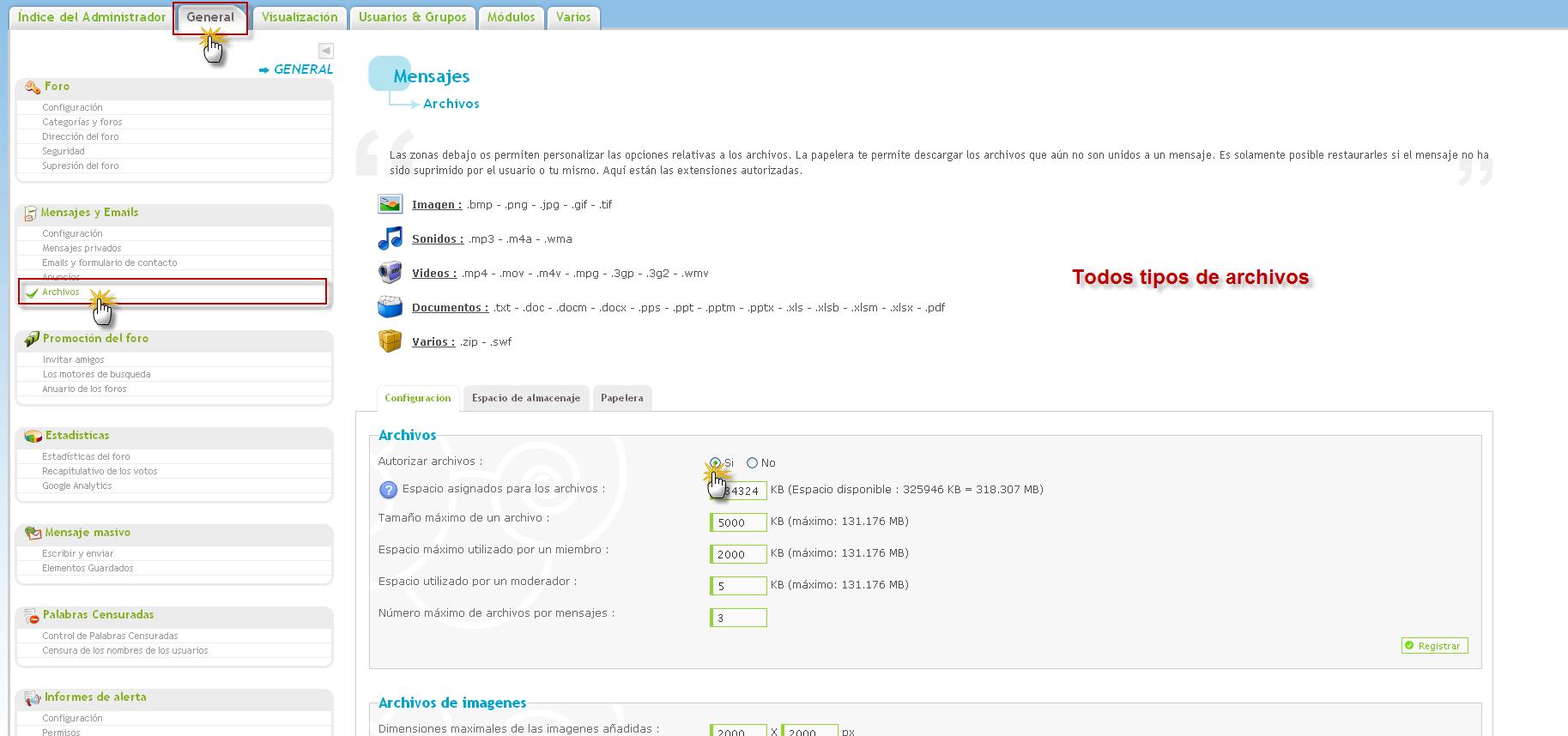 ARCHIVOS : INTERCAMBIAR FICHEROS Pj110