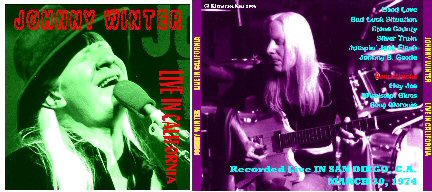 Johnny Winter : Live in California, San Diego March 30, 1974 Johnny10