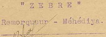 * ZEBRE (1908/1949) * 872_0010