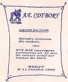* COMMANDANT BORY (1964/1996) * 961010
