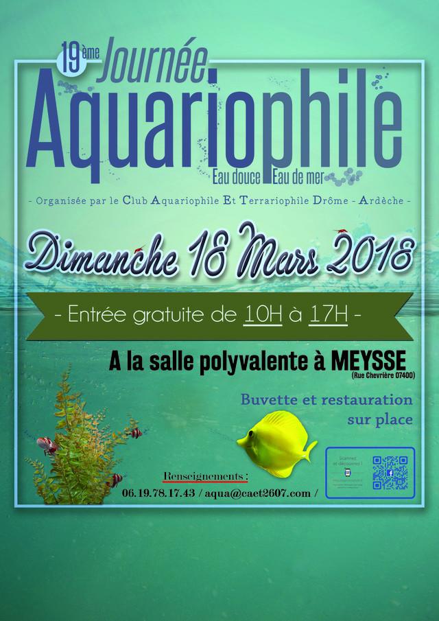 19ème Salon Aquariophile à Meysse (07), le 18 Mars 2018 Affich10