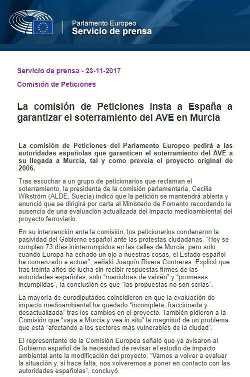 el AVE quizá llegará soterrado a Murcia pero la impunidad política camina por la superficie. - Página 6 23795210