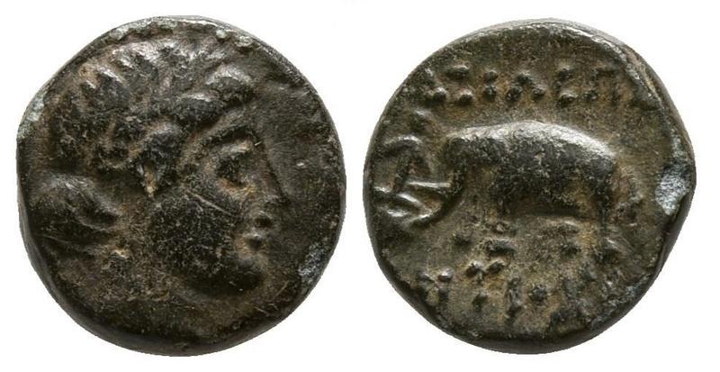 AE10 de Antioco III. Sardes Antioc10