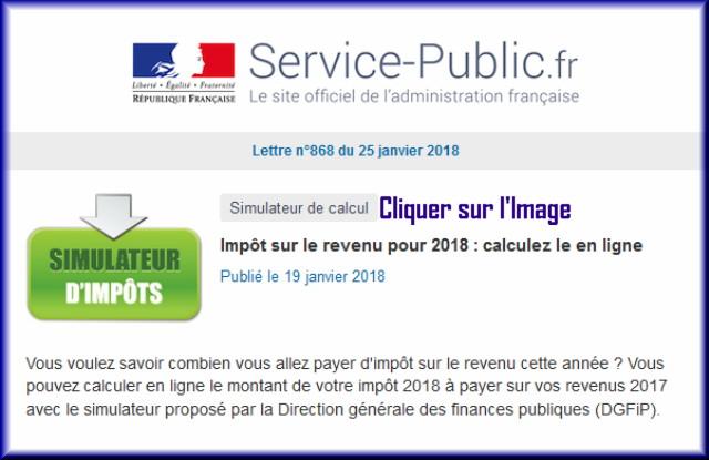 """La lettre N° 868 de """"Service Public"""" pour le 25 Janvier 2018 86810"""