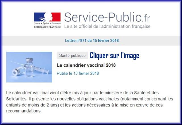 """La lettre N° 871 de """"Service Public"""" pour le 15 Février 2018 87110"""