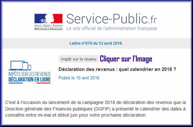 """La lettre N° 879 de """"Service Public"""" pour le 12 Avril 2018 87910"""