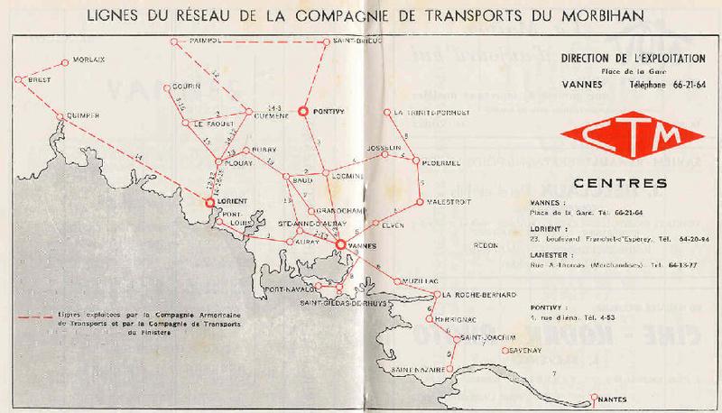 Transversale Saint Brieuc - Pontivy - Auray Chaix hiver 1974 - 1975 Ctm_ca10