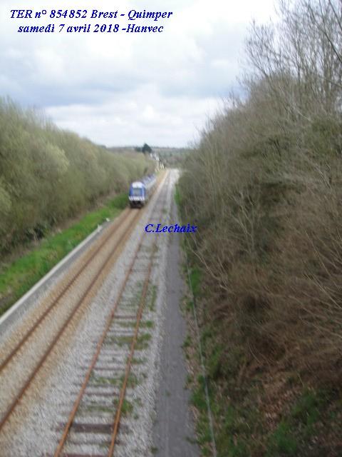 Hanvec passage de l'unique TER Brest Quimper samedi 7 avril Hanvec11