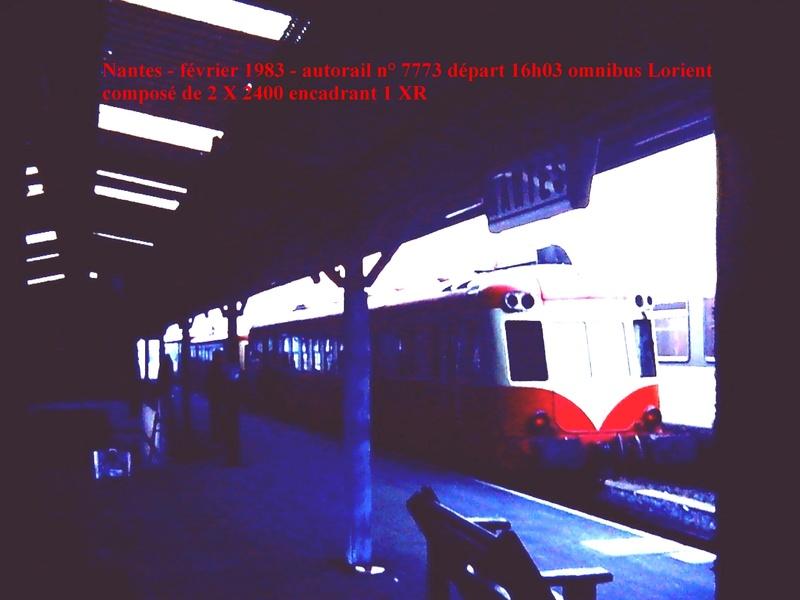 en gare de Nantes en février 1983 Nantes11