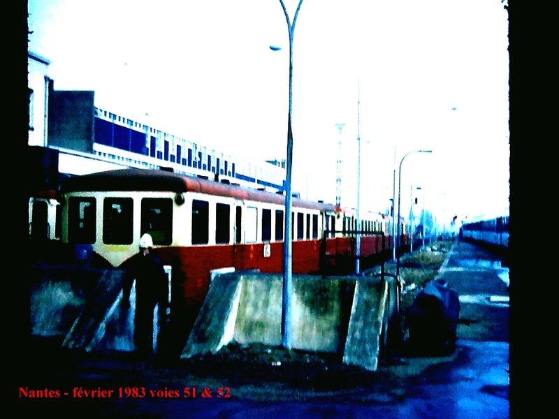 en gare de Nantes en février 1983 Nantes12
