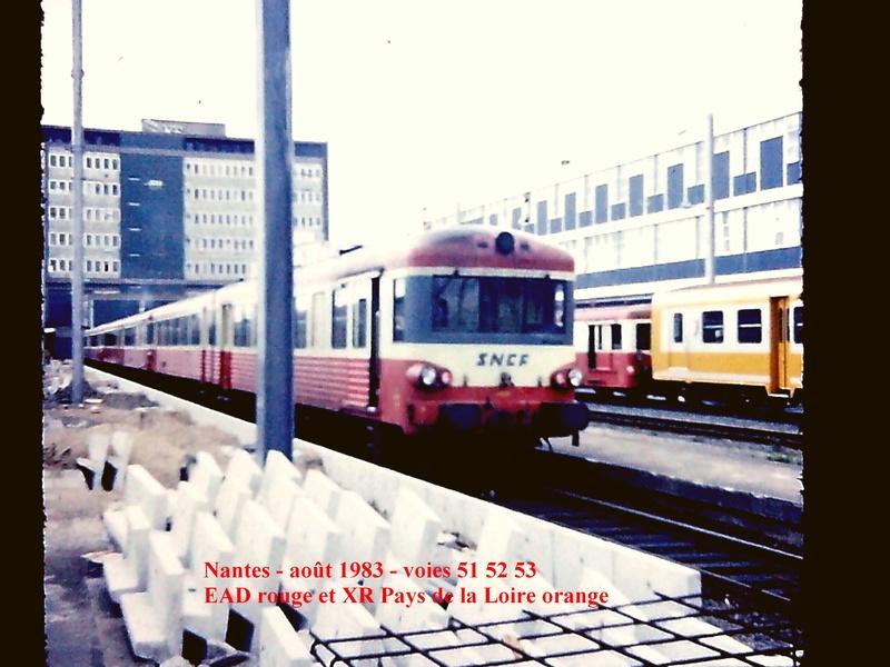 en gare de Nantes en février 1983 Nantes14