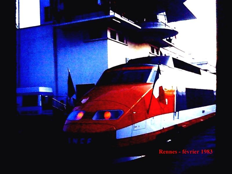 en gare de Rennes en février 1983 Rennes12
