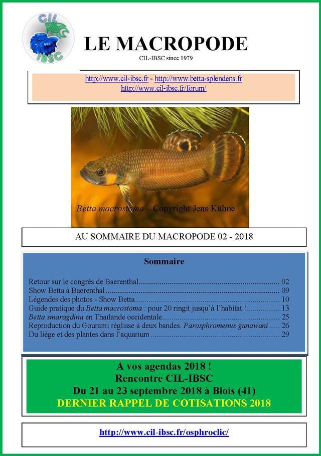 Sommaire de la revue du Macropode. - Page 3 2018-011
