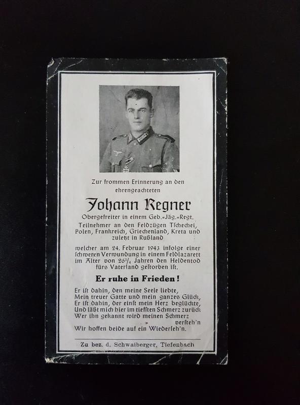 Tract + billets + avis mortuaires allemands 20180117