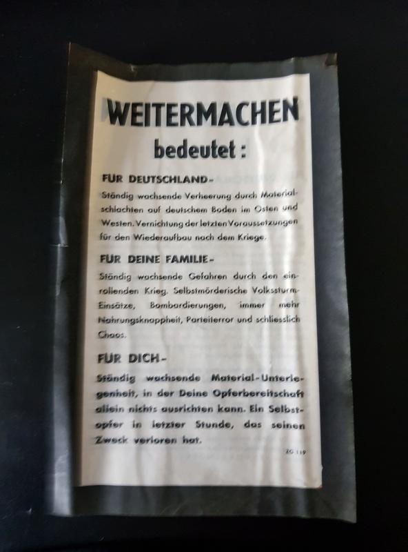 Tract + billets + avis mortuaires allemands 20180118