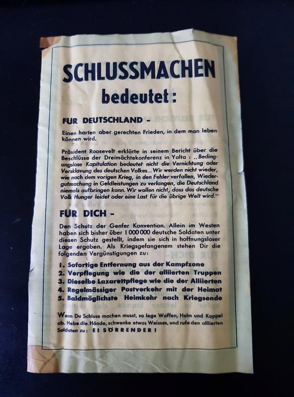 Tract + billets + avis mortuaires allemands 20180119