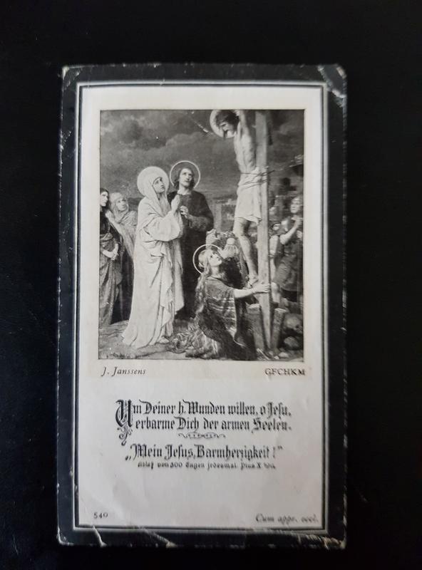 Tract + billets + avis mortuaires allemands 20180120
