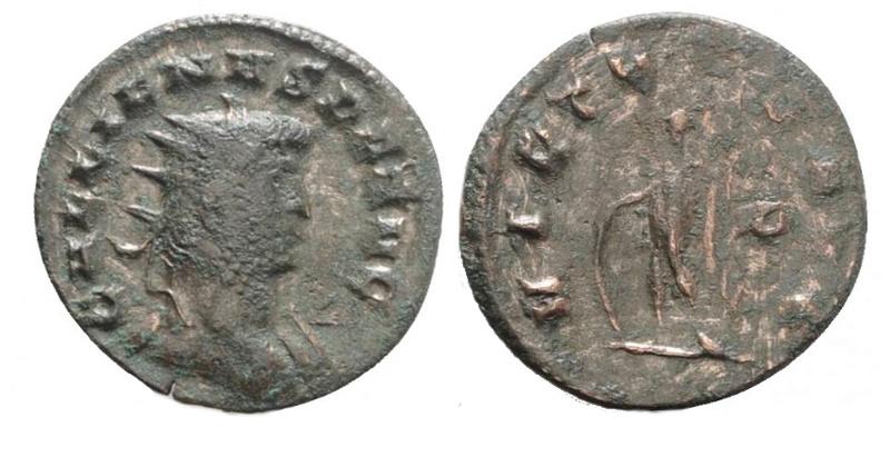 Antoninien Gallien revers ORIENS AVG Uncivm10