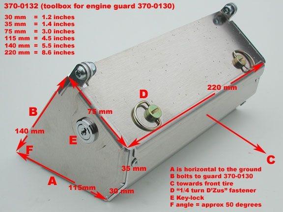 [Vendu] Caisse à outils touratech pour sabot moteur sur KTM LC8 Adventure 950/990/ Yam XT660Z Ténéré 01-37013
