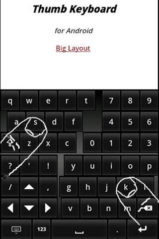 [SOFT/CLAVIER] Thumb Keyboard [Gratuit/Payant] Screen22