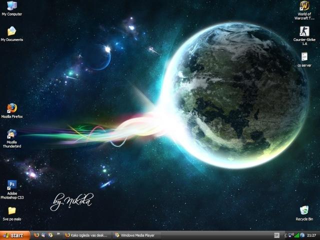Kako izgleda vas desktop Meina10