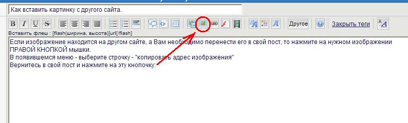 Как вставить картинку с другого сайта. 2010-013