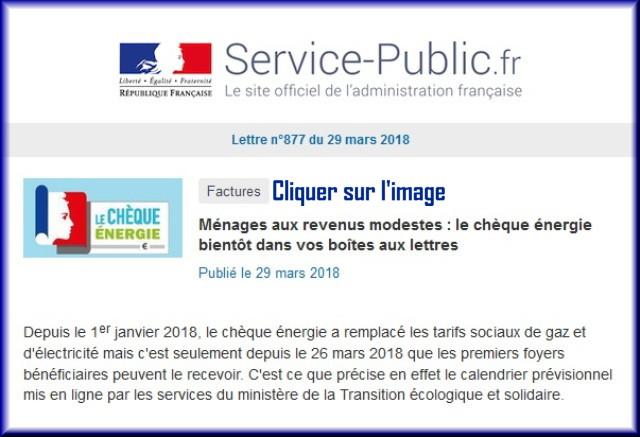 """La lettre N° 877 de """"Service Public"""" pour le 29 Mars 2018 87710"""
