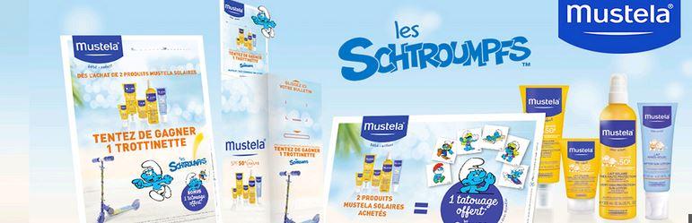 [Mustela] Mon Kit de Protection Solaire Les Schtroumpfs A1017