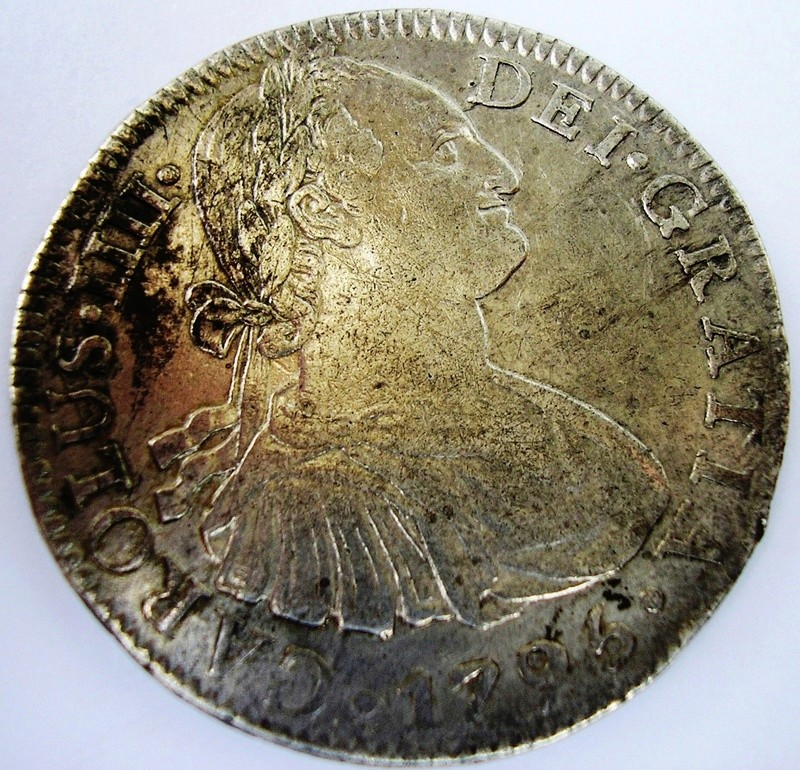 8 reales 1795 FM , Mexico Fernando VII Car_iv10