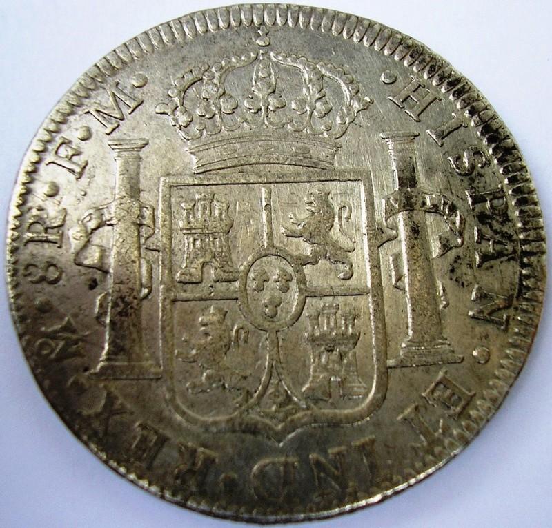 8 reales 1795 FM , Mexico Fernando VII Car_iv11