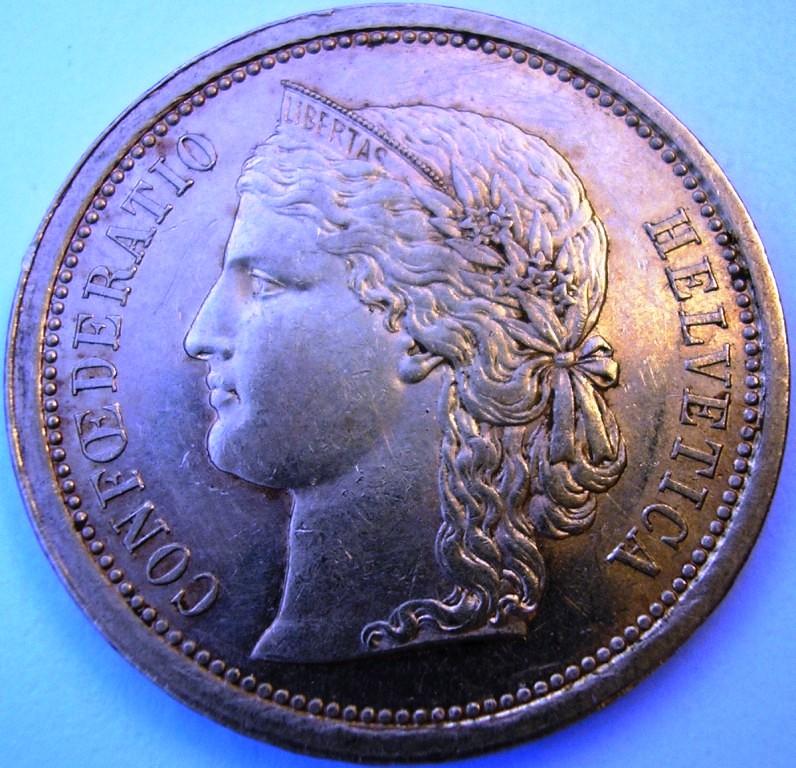 Suiza, 20 francos de 1886 Franco11
