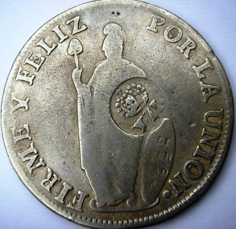 Isabel II Manila 1834 - Resello. Isabel10
