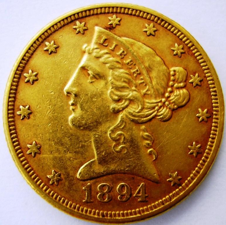Liberty Head 1894 5 dólares. Libert10