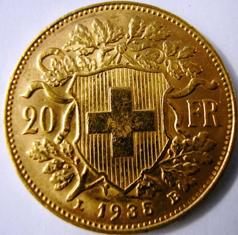20 francos suizos 1935 Suiza_11