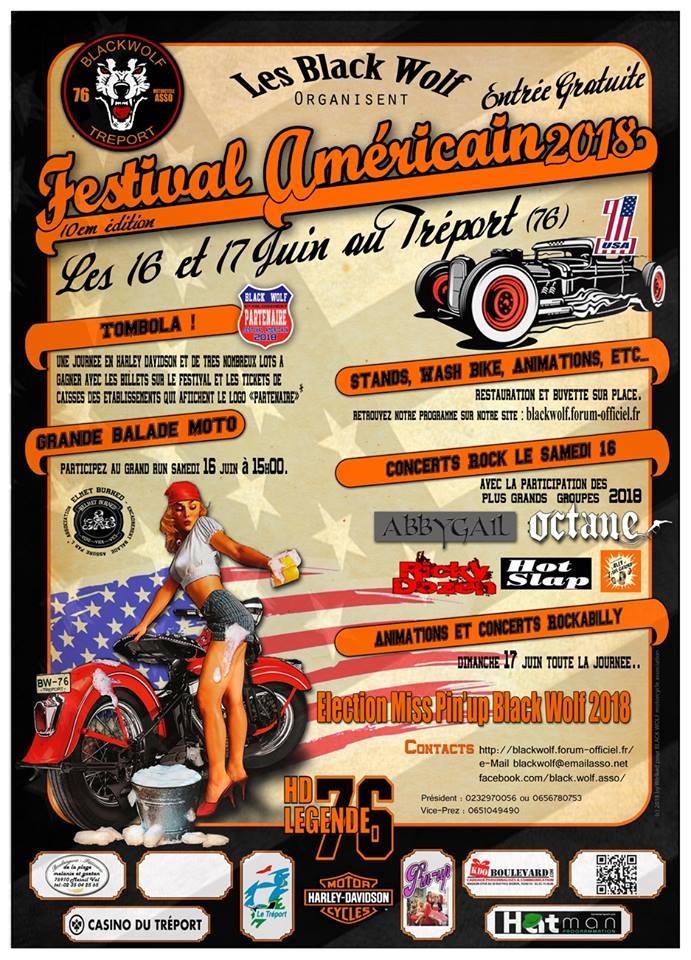 Festival Américain au Tréport (76) Affich10