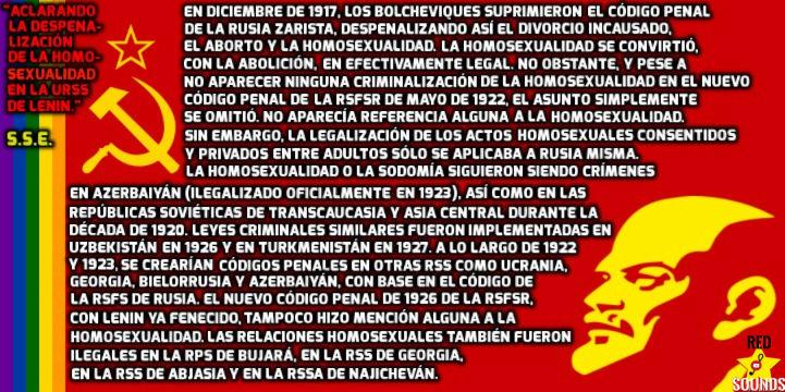 Aclarando la despenalización de la homosexualidad en la URSS de Lenin Leninh10
