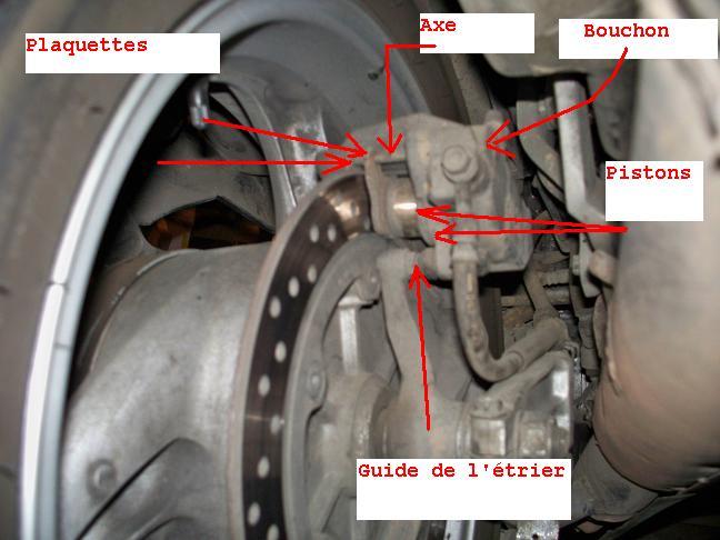 Deauville 650, étrier de frein arrière  Etrier10
