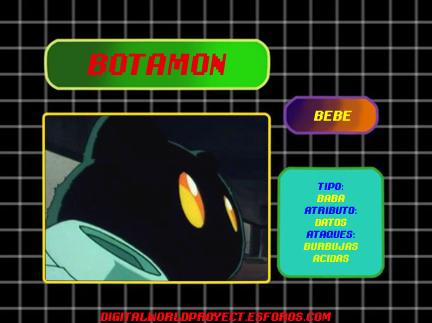 Sistema de información Digimon (Digidex) Botamo10