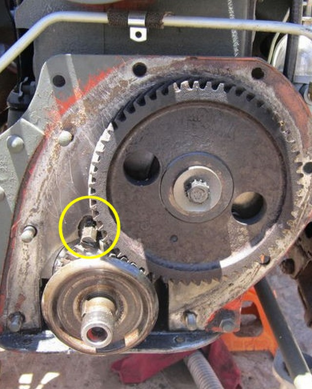 Cheminement de l'huile dans le circuit de graissage du moteur GO DEVIL Distri10