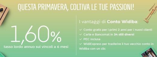 WIDIBA promo vincoli 1,60% a 6 mesi + conto gratuito per 2 anni [scaduta il 09/05/2018] Cattur10