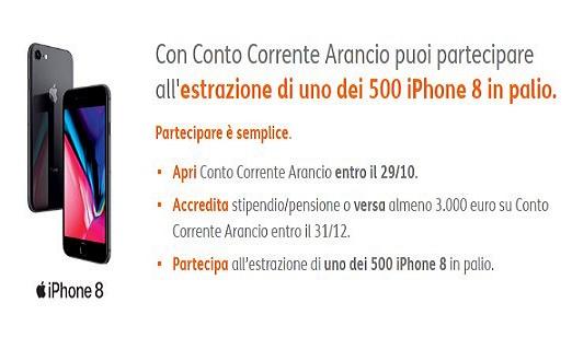 Con CONTO CORRENTE ARANCIO puoi partecipare all'estrazione di uno dei 500 IPHONE 8 in palio [scaduta il 29/10/2017] Conto_10