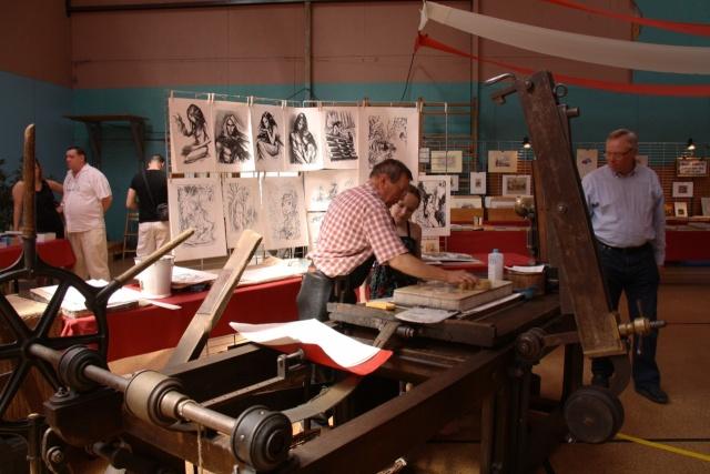Tom Barocco ,lithographe , au 10ème salon du livre régional de Marlenheim 5 et 6 juin 2010 Img_9511